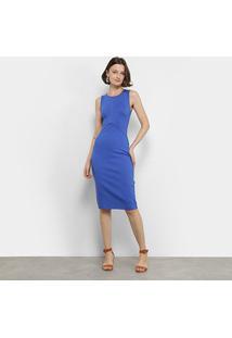 Vestido Tubinho Forum Recorte - Feminino-Azul Royal