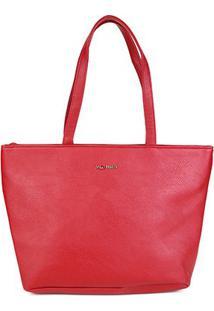 Bolsa Via Uno Shopper Eco Floter Feminina - Feminino-Vermelho