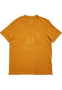 Camiseta Armani Exchange Masculina Slim 1991 Logo Arc Crew Orange