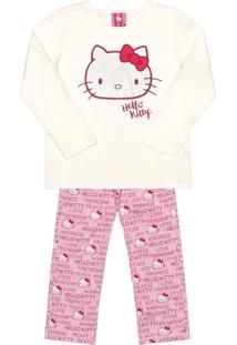 Pijama Hello Kitty Adulto Bege