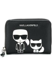 Karl Lagerfeld Carteira K/Ikonik Pequena - Preto