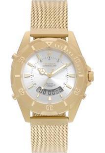 Relógio Technos Skydiver Feminino - Feminino-Dourado
