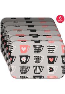 Jogo Americano Love Decor Wevans Xícaras Love Kit Com 6 Pçs