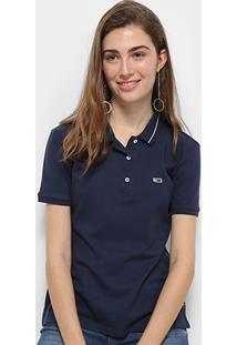 Camisa Polo Tommy Hilfiger Classics Feminina - Feminino-Azul+Marinho
