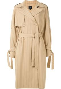 Armani Exchange Trench Coat Risca De Giz - Neutro