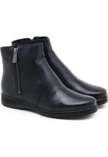 Ankle Boot Bottero New Argos Couro Preto
