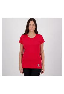 Camiseta Errea Creponada Feminina Vermelha