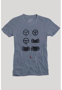 Camiseta Reserva Evolução Masculina - Masculino-Marinho