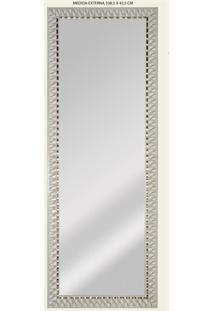 Espelho De Parede Retangular Safira 120 119X44Cm Bege