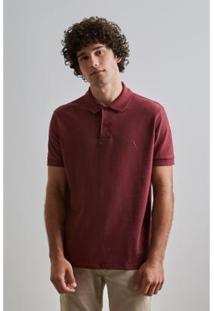 Camisa Polo Reserva Básica Masculino - Masculino-Bordô