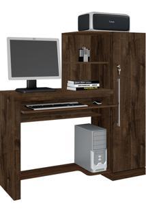 Escrivaninha Mesa Para Computador Aroeira Cacau Jcm Movelaria