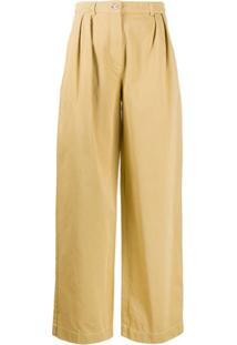 Acne Studios Double-Pleat Trousers - Marrom