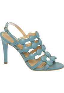 Sandália Botões Azul