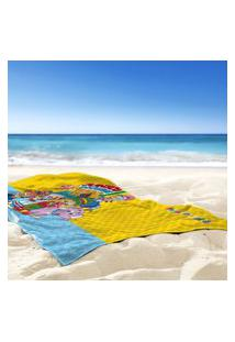 Toalha De Praia / Banho Juntos Podemos Tudo - Produto Licenciado Único