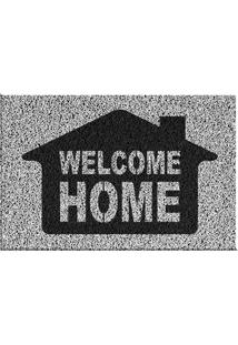 Capacho De Vinil Welcome Home Preto Único Love Decor