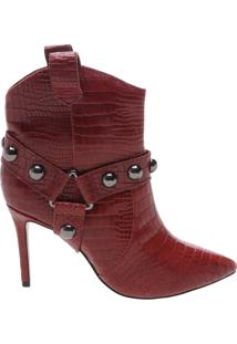 Ankle Boot Rock Western Croco Red | Schutz