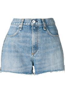 Rag & Bone Calça Jeans Com Zíper Aparente - Azul