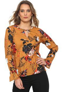 Camisa Only Floral Amarela