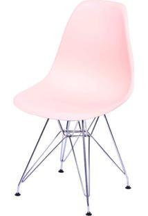 Cadeira Eames Polipropileno Salmao Base Cromada - 43033 - Sun House