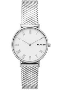 Relógio Skagen Feminino Hald - Skw2712/1Kn Skw2712/1Kn - Feminino-Prata