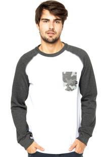 Blusa Moletom Oakley Neo Camo Crew Black/Heather
