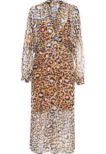 Vestido Pala Midi - Animal Print