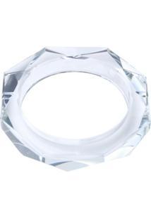 Cinzeiro De Cristal Octagonal 13X13X2,7Cm - Unissex