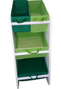 Organizador Organiboxinfantil Porta Brinquedos Mini Verde Limão E Verde Bandeira Montessoriano