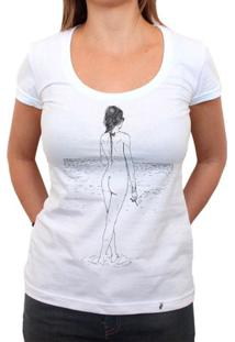 Fumando Na Praia - Camiseta Clássica Feminina