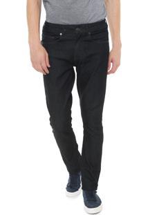 Calça Jeans Lacoste Skinny Básica Azul-Marinho