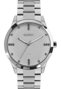 Relógio Euro Glitter Fever Eu Feminino - Feminino-Prata