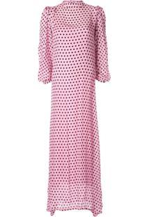 Olivia Rubin Vestido Com Estampa De Poás - Rosa