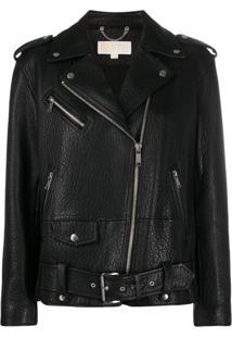 Michael Michael Kors Leather Jacket - Preto