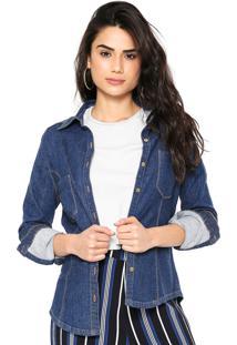 Camisa Jeans Lança Perfume Basic Azul