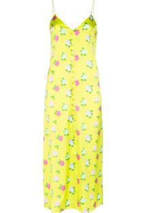 Bernadette Vestido Hailey Com Estampa Floral - Amarelo