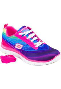 Tênis Running Pretty Please Hot - Skechers - Feminino-Pink+Roxo
