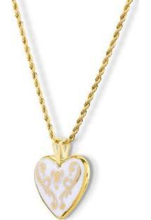 Pingente Coração Ouro Beautiful Heart Design Medalhas - Unissex