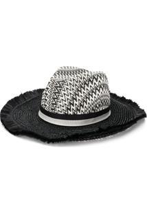 Missoni Mare Chapéu De Palha Trançado - Preto