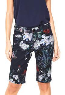 Bermuda Jeans Lança Perfume Desgastes Azul