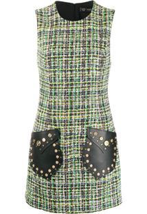 Versace Vestido Medusa Sem Mangas De Tweed - Verde