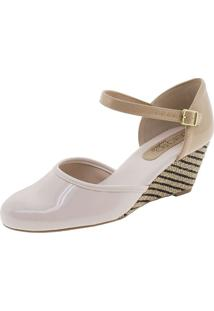 Sapato Feminino Anabela Creme Beira Rio - 4791204