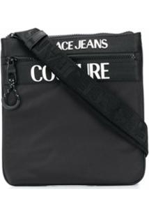Versace Jeans Couture Bolsa Transversal Com Estampa De Logo - Preto