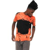 68c7fc8029 Camiseta Laranja Tie Dye masculina
