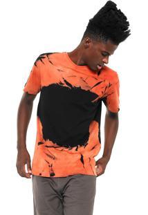 Camiseta Mcd Tie Dye Laranja/Preta