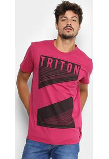Camiseta Triton Estampada Masculina - Masculino-Rosa