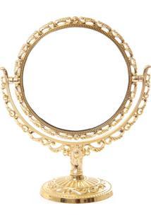Espelho Real Arte Rococó Dourado