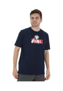 Camiseta Fatal Estampada 20310 - Masculina - Azul Escuro
