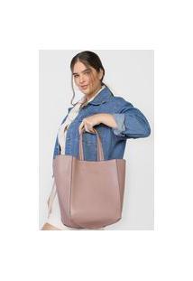 Bolsa Ellus Shopping Bag Dupla Face Bege