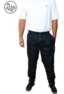 Calça Cós Elástico Volver Plus Size Preta