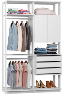 Guarda-Roupa Solteiro Modulado Clothes 2 Pt 3 Gv Branco